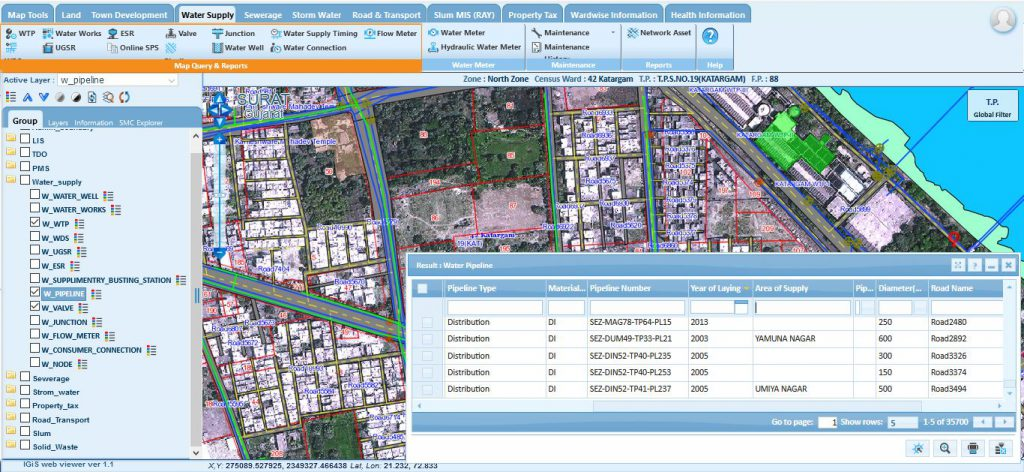 Managing the Water Supply Assets using GIS